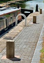 Square bollards at Minworth Top Lock