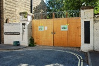 Castlemill boatyard gates
