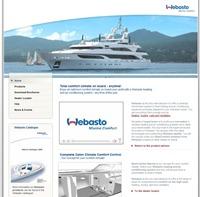 Webasto Marine website
