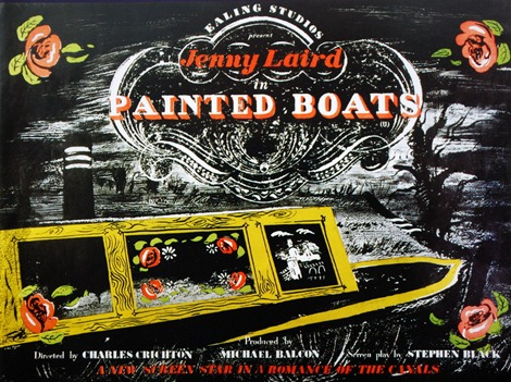 Painted boats poster