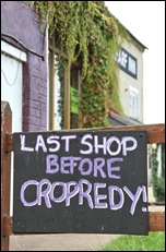 Wharf Inn Fenny 2010 last shop before Cropredy sign