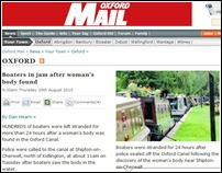 Oxford Mail body in canal