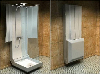 Granny buttons la douche pliante and 39 wet room 39 showers for Folding shower for small bathrooms