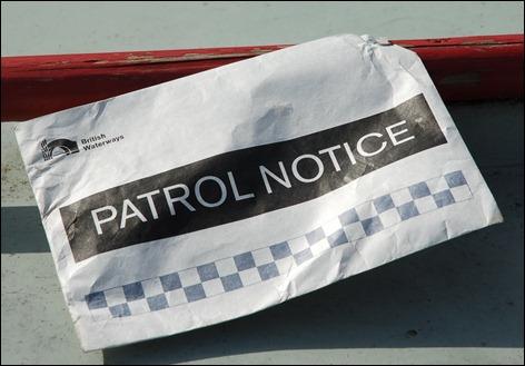 Patrol notice