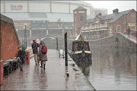 IWA's campaign boat Jubilee at Brindleyplace Birmingham, January 2006