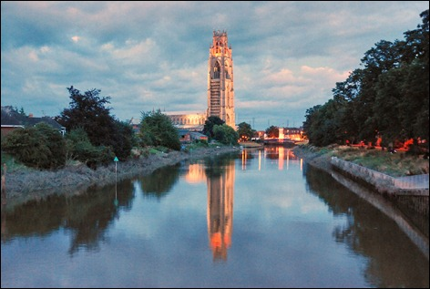 Boston stump at dusk