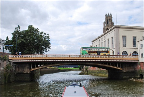 Boston Stump behind bridge
