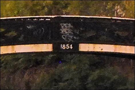 Icknield Port bridge closeup with date