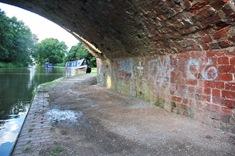 Bonehill Bridge with grafitti underneath 4960