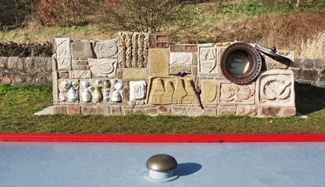 Anthony Lyscsia Caldon Canal lockside sculpture