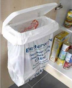 Granny Buttons: Carrier bag bin from Betterware