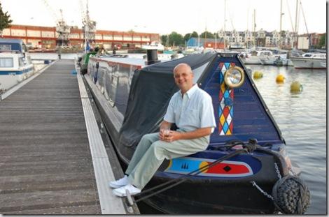 Andrew Denny on Granny Buttons at Bristol Docks