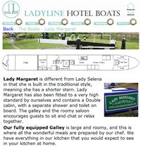 Ladyline Hotel Boats
