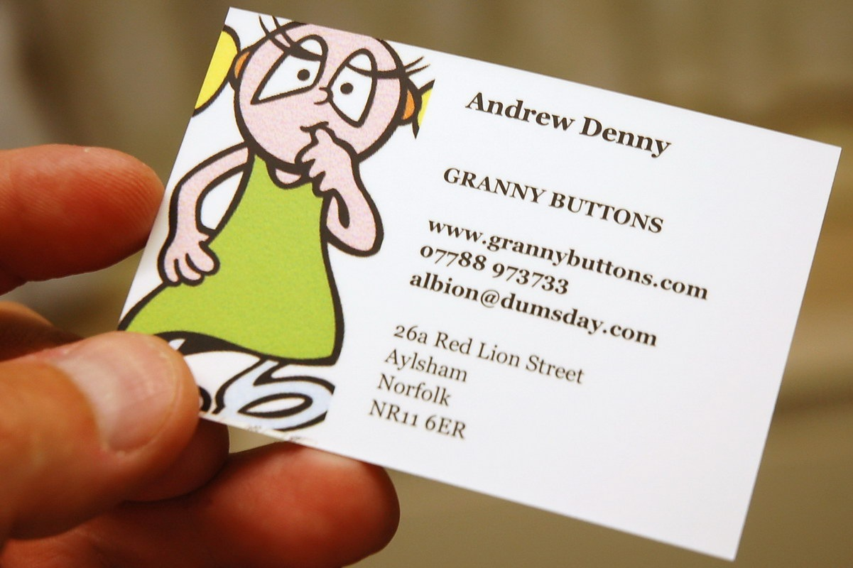 Granny Buttons: New-format Moo cards: \'Greetings for meetings\'